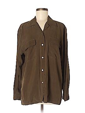 Silkland Long Sleeve Silk Top Size M