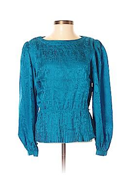 Argenti Long Sleeve Silk Top Size 2