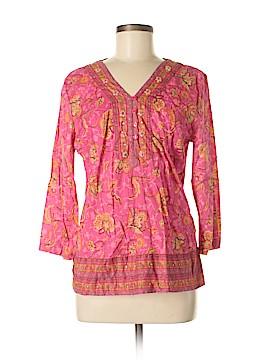 A.n.a 3/4 Sleeve Button-Down Shirt Size M