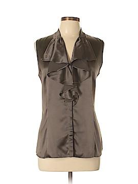 Lafayette 148 New York Sleeveless Silk Top Size 10