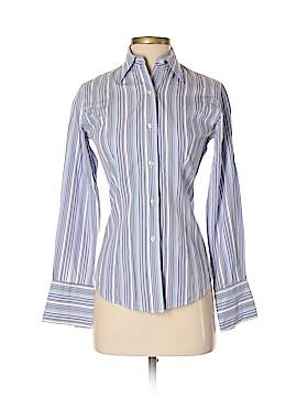 T.M. Lewin Long Sleeve Button-Down Shirt Size 6