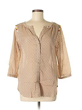 Maison Scotch 3/4 Sleeve Button-Down Shirt Size Med (2)