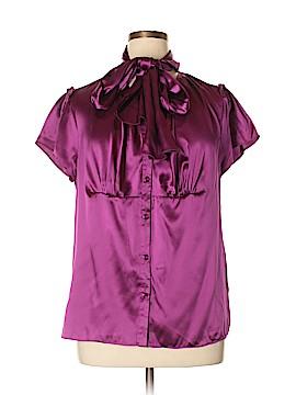 Dialogue Short Sleeve Silk Top Size XL