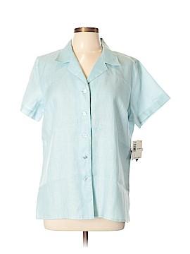 Liz Claiborne Short Sleeve Button-Down Shirt Size L