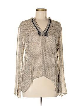 Studio M Long Sleeve Silk Top Size M