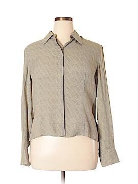 Jones New York Long Sleeve Silk Top Size 16