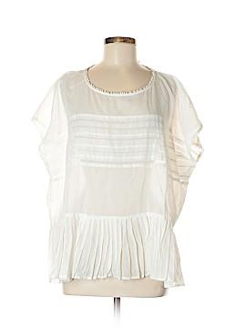 Velvet Short Sleeve Blouse Size M