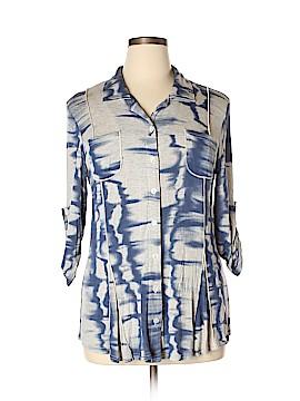 Michael Tyler 3/4 Sleeve Button-Down Shirt Size XL