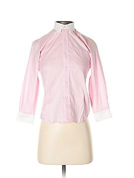 Isaac Mizrahi Long Sleeve Button-Down Shirt Size S