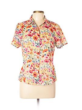 Crazy Horse Short Sleeve Button-Down Shirt Size 10