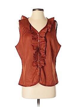 J.jill Sleeveless Button-Down Shirt Size L