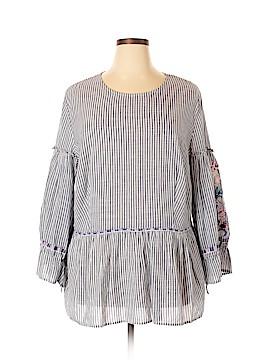 Caslon Long Sleeve Blouse Size 1X (Plus)