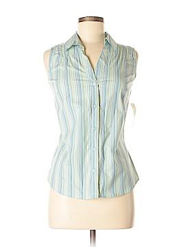 St. John's Bay Sleeveless Button-Down Shirt Size M