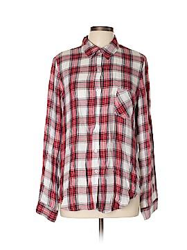 WAYF Long Sleeve Button-Down Shirt Size L