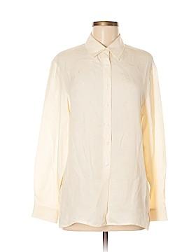 Rena Rowan Long Sleeve Silk Top Size 8