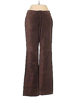INC International Concepts Leather Pants Size 4 (Petite)