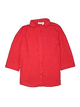 Kim Rogers 3/4 Sleeve Button-Down Shirt Size XL (Plus)