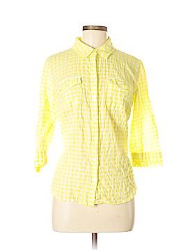 Croft & Barrow 3/4 Sleeve Button-Down Shirt Size M