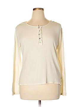 Ashley Judd Long Sleeve Henley Size XL