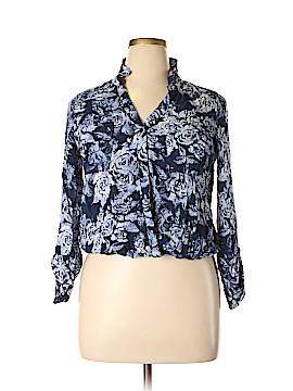 Como Vintage Long Sleeve Button-Down Shirt Size XL (Plus)