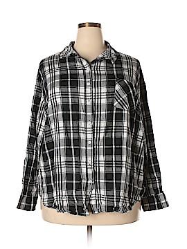 Ava & Viv Long Sleeve Button-Down Shirt Size 4X (Plus)