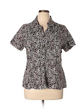 Kim Rogers Short Sleeve Button-Down Shirt Size XL (Plus)