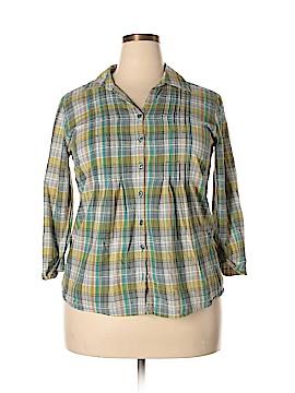 Christopher & Banks 3/4 Sleeve Button-Down Shirt Size XL (Plus)