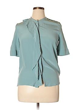 Iris & Ink Short Sleeve Silk Top Size 8