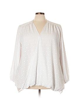 Melissa McCarthy Seven7 Long Sleeve Blouse Size 3X (Plus)