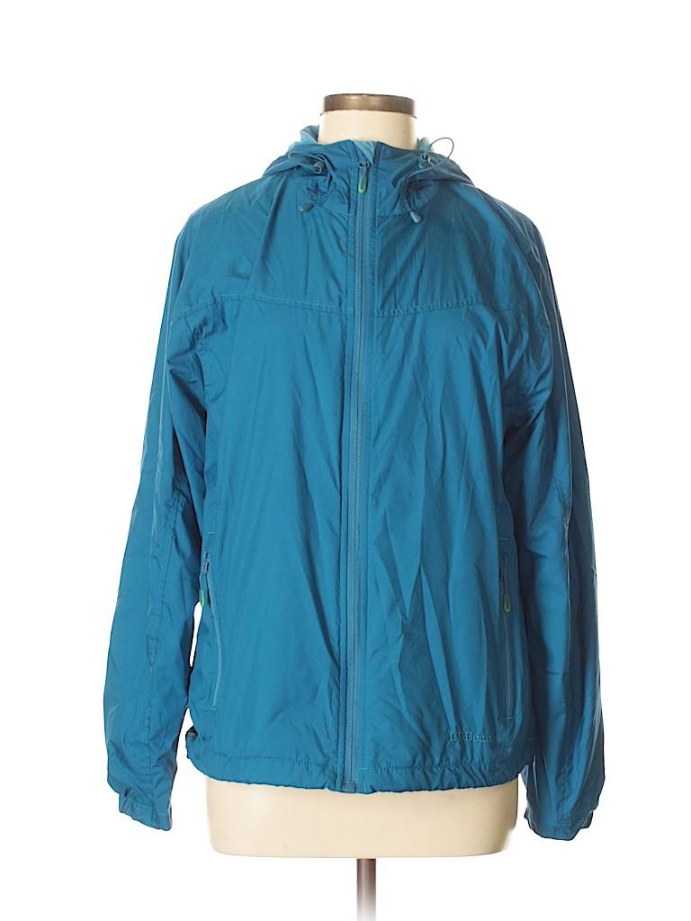 L.L.Bean 100% Polyester Solid Dark Blue Windbreaker Size M - 62% off ... 3c32057d8e