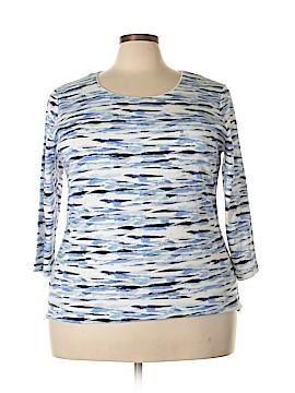 Karen Scott 3/4 Sleeve T-Shirt Size 2X (Plus)