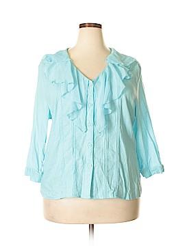 Susan Bristol 3/4 Sleeve Blouse Size 2X (Plus)