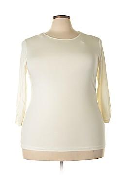 Anne Klein 3/4 Sleeve Top Size 2X (Plus)