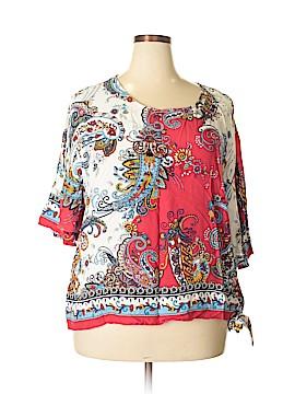 Melissa Paige 3/4 Sleeve Blouse Size 1X (Plus)