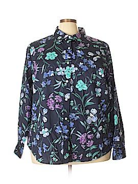 Karen Scott Long Sleeve Button-Down Shirt Size 3X (Plus)