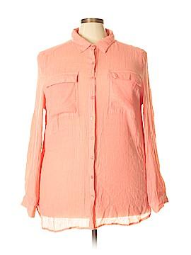 Spense Long Sleeve Button-Down Shirt Size 2X (Plus)