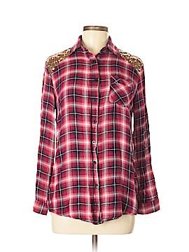 E2 Clothing Long Sleeve Button-Down Shirt Size M