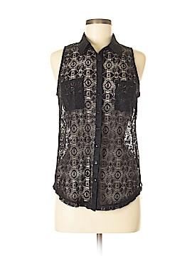 Guess Sleeveless Button-Down Shirt Size M
