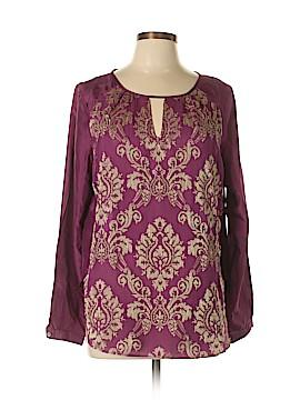 Sundance Long Sleeve Silk Top Size L