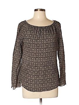 Kate Hill Long Sleeve Silk Top Size L (Petite)