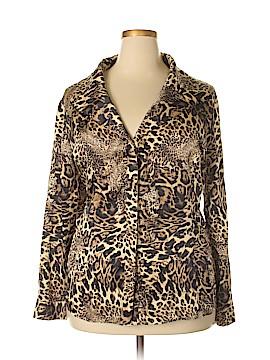 Lafayette 148 New York Long Sleeve Silk Top Size 22 (Plus)