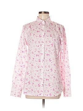 Lands' End Long Sleeve Button-Down Shirt Size 6 (Petite)