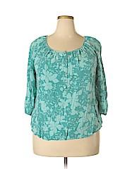 St. John's Bay Women 3/4 Sleeve Blouse Size 1X (Plus)
