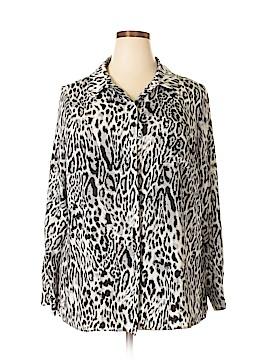 Worthington Long Sleeve Button-Down Shirt Size 1X (Plus)