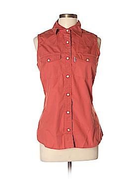 Carhartt Sleeveless Button-Down Shirt Size L
