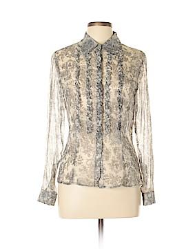 ECI Long Sleeve Silk Top Size M