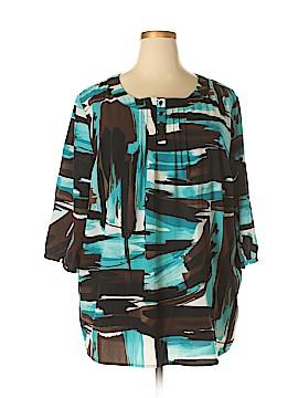 Maggie Barnes 3/4 Sleeve Blouse Size 2X (Plus)