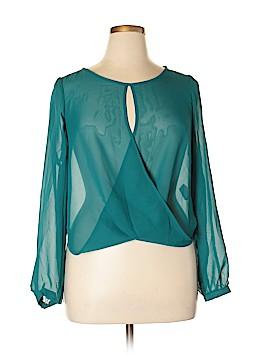 XOXO Long Sleeve Blouse Size XL