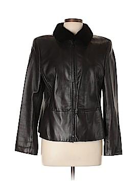 AKRIS Leather Jacket Size 12
