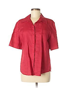Emma Jane Short Sleeve Button-Down Shirt Size L